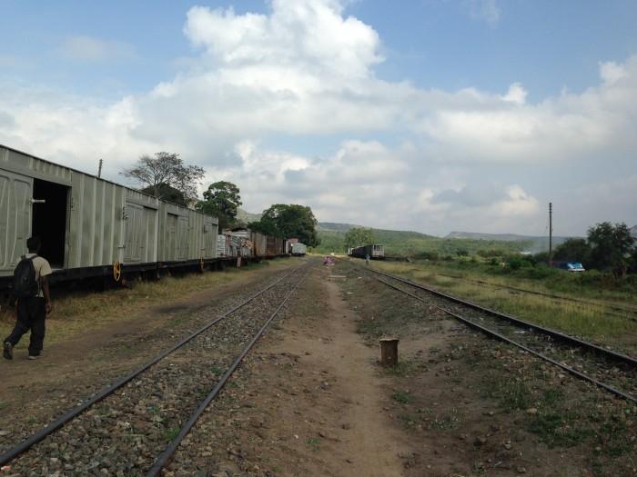 Eine der beiden einzigen Zugrouten in Tansania