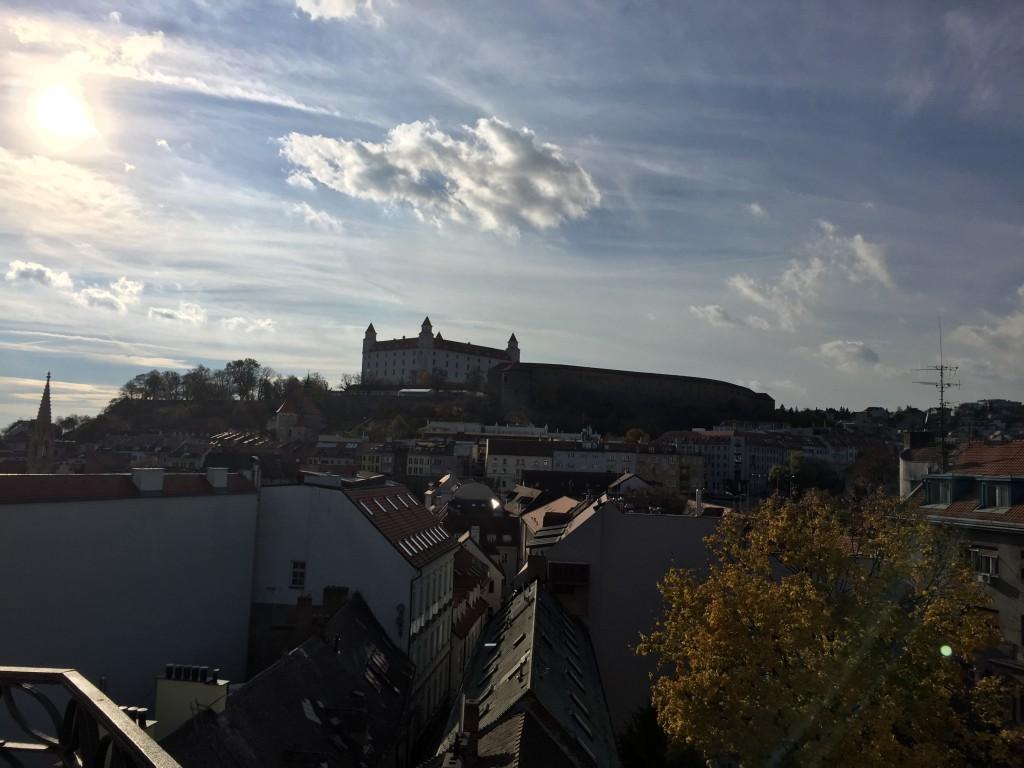 Ausblick vom Michaelerturm auf die Burg Devin