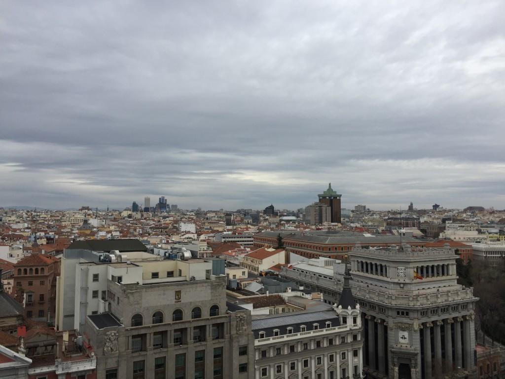 Ausblick von der Dachterrasse des Circulo des Bellas Artes