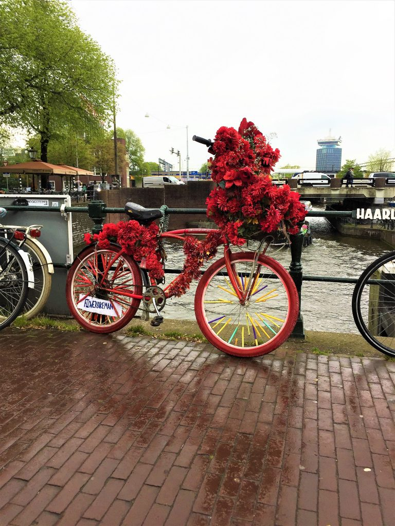 amsterdam gracht flowerbike rot