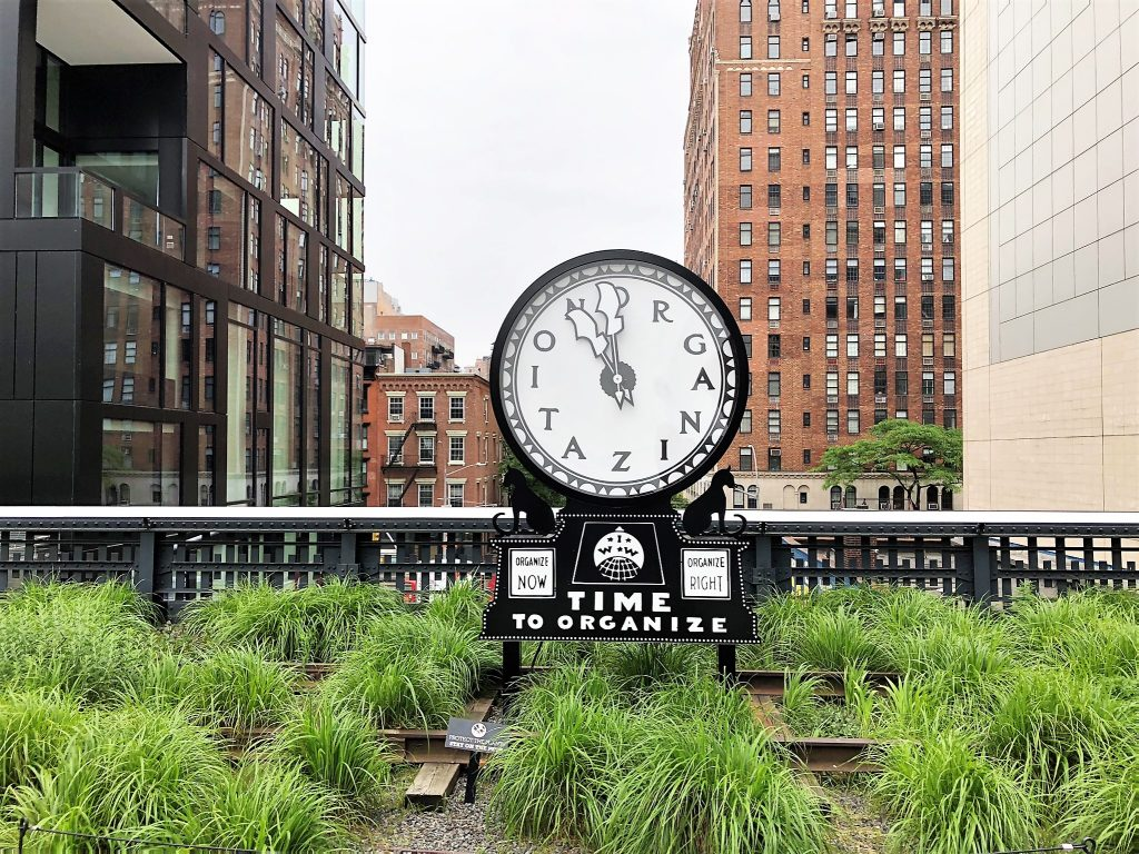 nyc high line clock