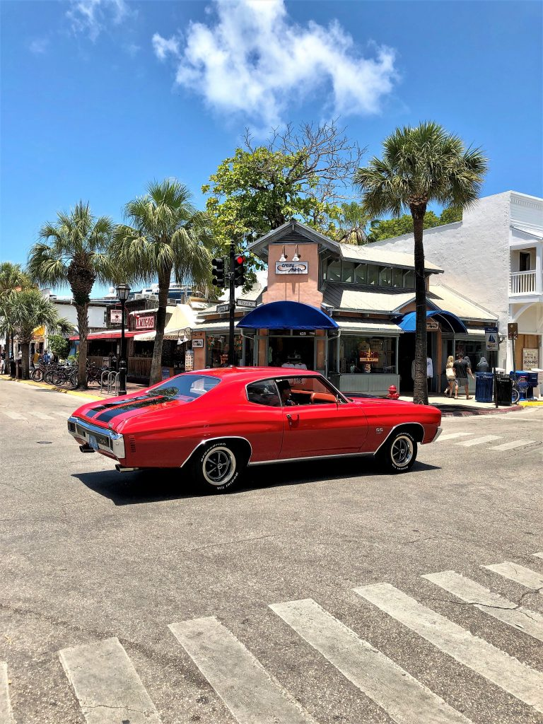key west streets muscle car