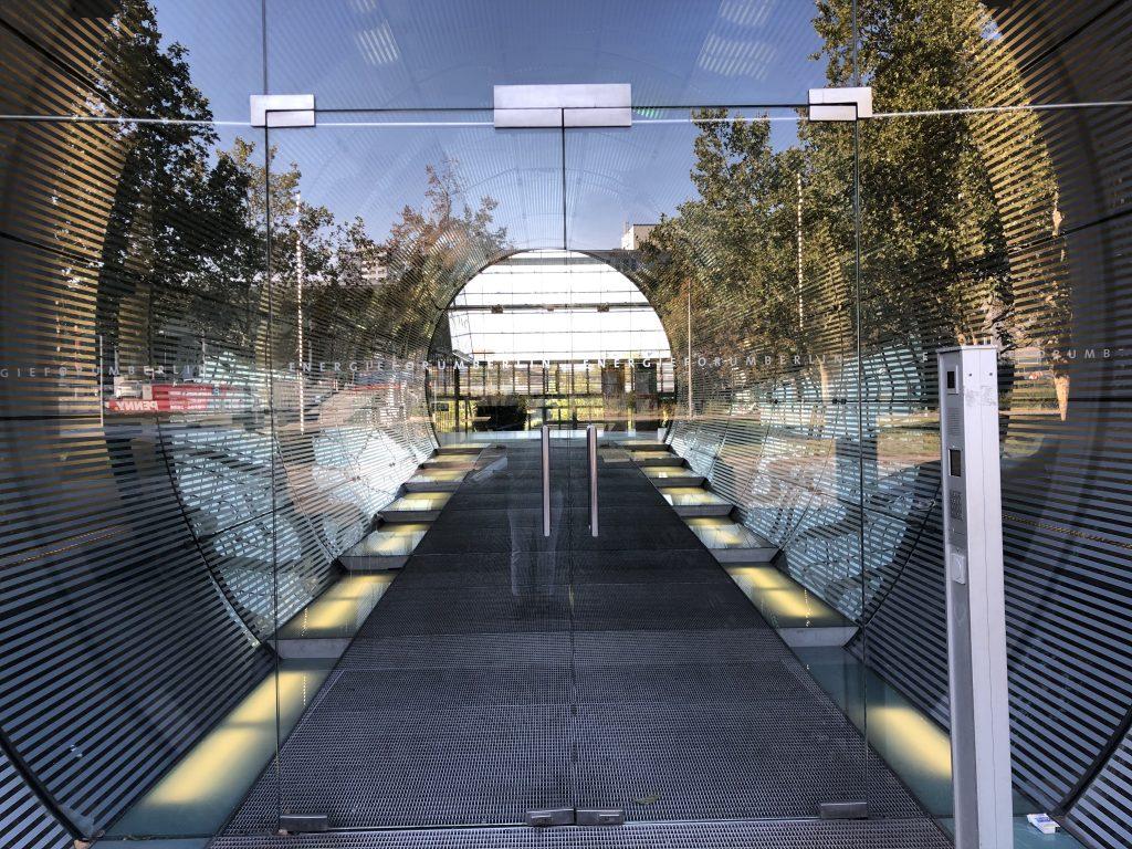 berlin building entrance mirror