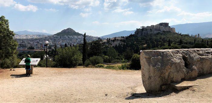 athen pnxy blick auf akropolis